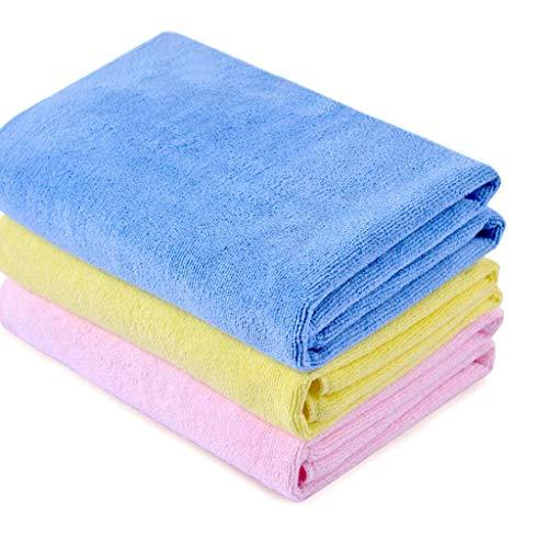 QYQ Tadellose Textilien - Professionelle Mikrofaser-Reinigungstücher Aus Mikrofaser Superweich, Extra Dick Und Sehr Saugfähig Medium Microfiber Towel (3 Strips)