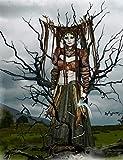 Gothic Fantasy Dark Fairy Journal: Witchcraft Notebook for Goths, College-Ruled