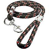 W9 Nylon Rope Black Leash (Large)
