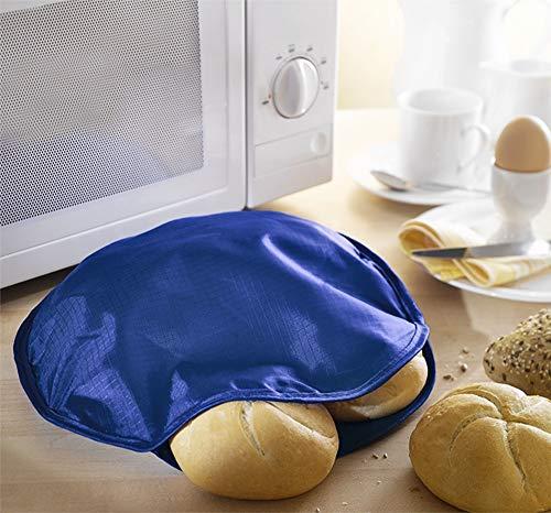 WENKO 2901030500 Mikrowellen-Aufwärmkissen, Polyester, 30 x 30 cm, Blau