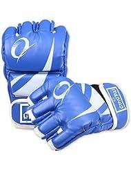 guantes de boxeo/Medio se refiere a hombres y mujeres adultos protecciones de Taekwondo/ boxeo lucha lucha puño/ niños jugando guantes de saco de boxeo-azul
