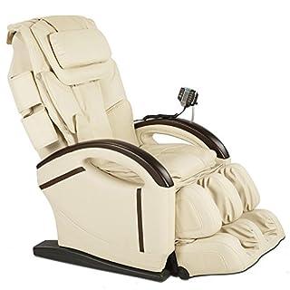 aktivshop Massagesessel Relaxsessel Entspannungssessel mit Shiatsu-Massage, Wärmefunktion, Aufstehhilfe (Creme)