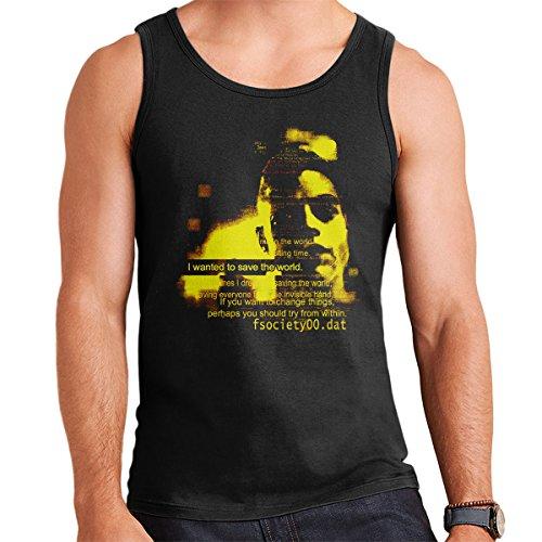 Save the World Mr Robot Men's Vest Black