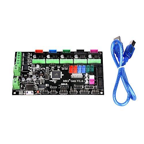 PoPprint MKS-Gen V1.4Carte électronique avec ramps 1.4 et Mega 2560 intégrésCarte mère avec câble pour imprimante 3D RepRap