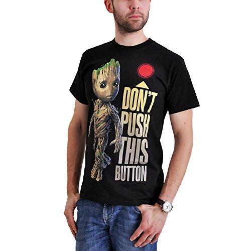Guardians of the Galaxy 2 - Groot - Button T-Shirt schwarz L