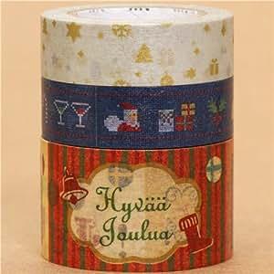 Set 3 nastri adesivi decorativi natalizi con stelle alberi casa e cucina - Nastri decorativi natalizi ...