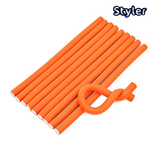 Styler Soft Twist Hair Curlers And Rollers Rods In Foam (Pack Of 10 Pcs)