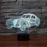 Illusion Optique Voiture De Sport Moulage Lampe De Table 7 Couleurs Led Nuit Lumière Atmosphère Lampe Garçon Chevet Luminaire Luminaire Home Decor Vacances Cadeaux 3D