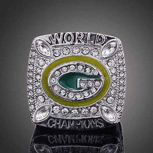 G-J Champion Ring Fan High-End-Kollektion Ring Fans Geschenk Dekoration Ring, Bild, Nummer 12, Bild, Nummer 10 (Bay Packers Green Bilder)