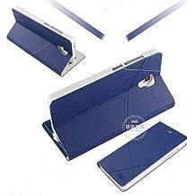 Prevoa ® 丨Xiaomi Mi4 Funda - Flip Funda Cover Case para XIAOMI MI4 5.0 Pulgadas Smartphone - Dark Blue