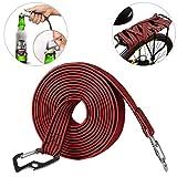 ASEOK - Cuerda elástica para equipaje con gancho de acero al carbono, ideal para bicicletas, coches eléctricos, 2 y 4 metros, rojo