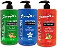 Jennifer's Anti- Bacterial Hand Wash, Pack of 3, Assorted, V