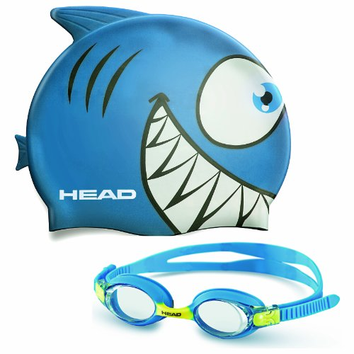 Mares Kinder Badekappe und Schwimmbrille Goggle Meteor Character, Blau, One size, 451020