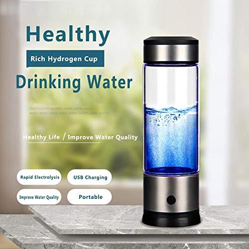 AITOCO wasserstoffreiche Wasserflasche für Lonizing Wasserstoff – tragbar, Anti-Aging Antioxidans Glas Becher, Wiederaufladbar, 700-1000 ppb Hohe Konzentration Wasserstoff innerhalb von 3 Minuten