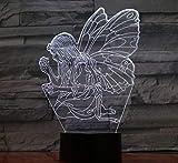 Ilusión 3D Lámpara Led Fairy Light Mariposa Decoración De La Cabecera 7 Cambio De Color Niño Niño Niño Regalo De Cumpleaños Usb 3D Con Luz De Noche