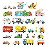 DECOWALL DS-8015 Transporte Autos Fahrzeuge Wandtattoo Wandsticker Wandaufkleber Wanddeko für Wohnzimmer Schlafzimmer Kinderzimmer (Klein)