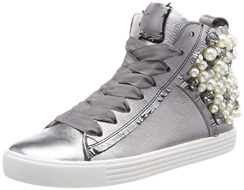 Sneaker Da Donna Alta Qualità Kennel E Schmenger Scarpa Argento Da Donna (alluminio / Suola Perlata Bianca)