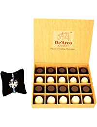 DEARCO CHOCOLATIER CHOCOLATE GIFT BOX, RAKHI CHOCOLATE For BROTHER, Luxury Rakhi Gift, PREMIUM RAKHI GIFT CHOCOLATES... - B073ZMJLCD