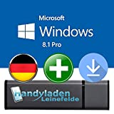 Microsoft® Windows 8.1 Pro ISO USB. 32 bit & 64 bit - Original Lizenzschlüssel mit bootfähigen USB Stick von - HANDYLADEN-LEINEFELDE®
