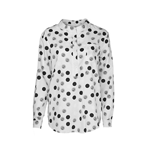 d524c4d2bb1a6 Sale Clearance Women s Blouse Sunday77 Tops Daily Print Point V-Neck  Printing Plus Size Long