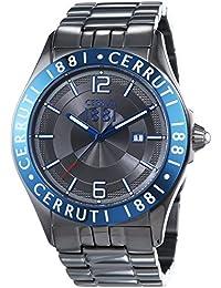 CERRUTI 1881 VITTORIA CRA120SUBL61MU - Reloj para hombres, correa de acero inoxidable color marrón
