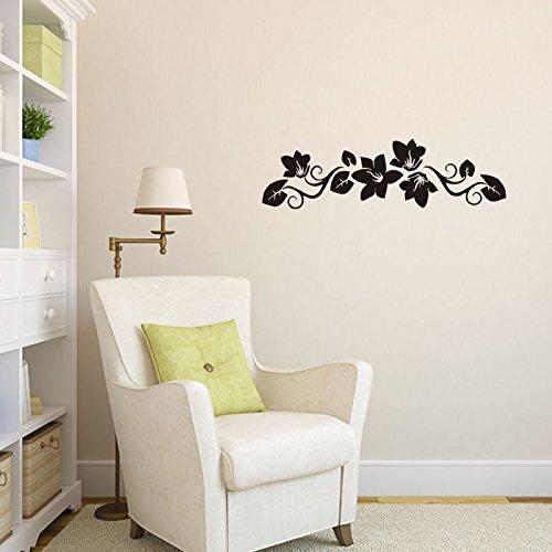 SISANLAI Cartoon Wall Sticker Cartoon geschnitzten Wandhalterung Blume Rattan Cart-Posters (Rattan-peel)