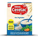 Nestlé CERELAC Fortified Baby Cereal with Milk, Rice Vegetables - From 8 Months, 300g BIB Pack