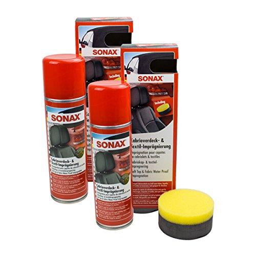 2-X-Sonax-03102000-coup-cabriolet-Texti-Limp-raegnie-Rung-300-ML