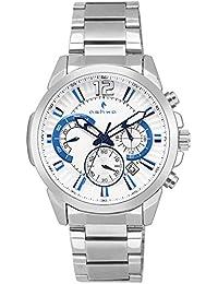 Ashwa White Dial Chronograph Hybrid Multi Dial Watch - AS9108