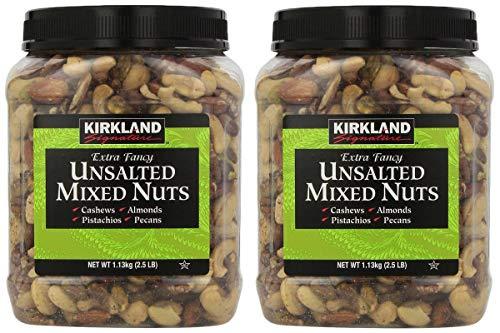 Kirkland Signature R.XMKDQK Extra Fancy Ungesalzte Mischmuttern 6,4 kg, 2 Stück - Pistazien-cashew