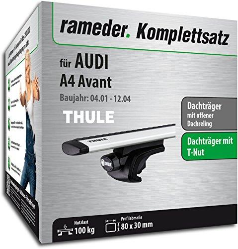 Rameder Komplettsatz, Dachträger WingBar für Audi A4 Avant (114406-04797-83)