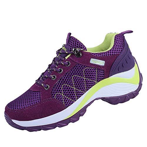 Lazzboy Damen 219183 Atmungsaktiv Sneaker Walkingschuhe(Violett,39)