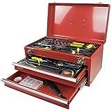Bakaji Set von Werkzeug Kofferträger Werkzeugkoffer Metall Werkzeugkoffer komplett-196Stück Chrome Vanadium Kinzo