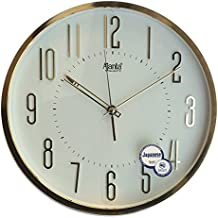 Ajanta Plastic Round Wall Clock (30.3 cm x 30.3 cm x 4.5 cm, White)