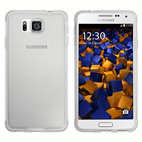 mumbi TPU Schutzhülle für Samsung Galaxy Alpha Hülle transparent weiss