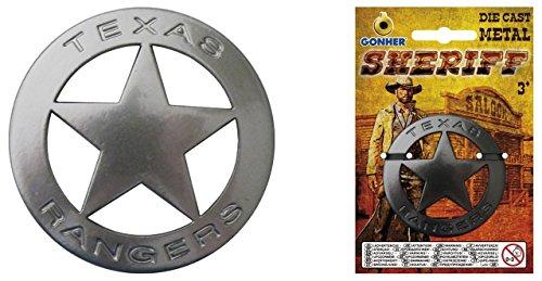 Gonher gonher14/0Metall Sheriff Stern Badge, Silber -