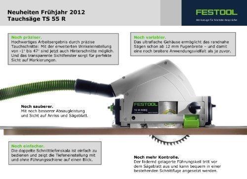 """Preisvergleich Produktbild FESTOOL Tauchsäge TS 55 R Die neue """"R""""EBQ Plus - 561551 - Elektronische Regelung"""