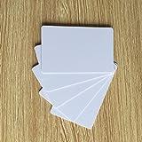 YARONGTECH blanko weiß PVC Inkjet ID Karten Kreditkarte Größe für Epson & Canon kann Print doppelseitig (Packung mit 10