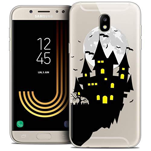 Caseink Hüllle für Samsung Galaxy J5 2017 J530 (5.2 Handyhülle Back case [Crystal Gel HD Sammlung Halloween Design Castle Dream - Flexibel - Ultra Fin - Auf Wunsch frisch in Frankreich gedruckt]