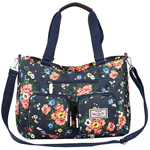 Canvas Tasche Damen Rucksack Handtasche Damen Vintage Umhängentasche Anti Diebstahl Tasche Hobo Tasche für Alltag Büro Schule Ausflug Einkauf -