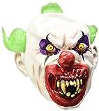 Sinister Clown Mask, Latex, with Green Hair, Full Overhead (máscara/ careta)