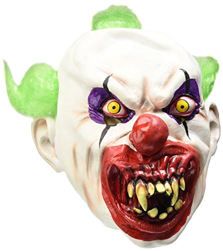 Smiffys, Herren Gruseliger Clown Maske, One Size, Weiß, (Teen Clown Kostüme)