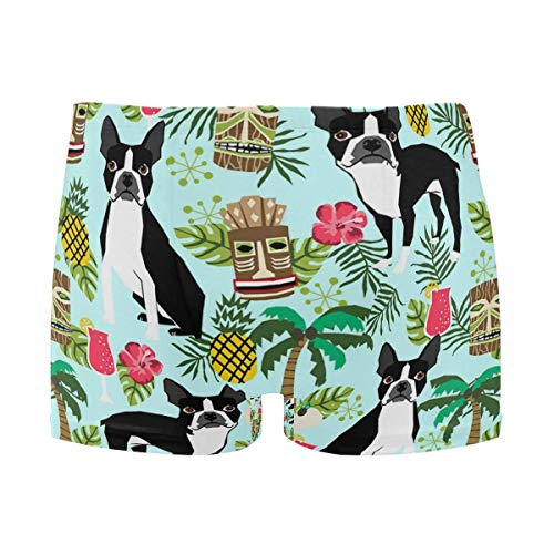 best gift Mens Swim Trunks Smoking Boston Terrier Boxer Briefs Board Short Beach Shorts Men Swimming Briefs Swimwear XXL -
