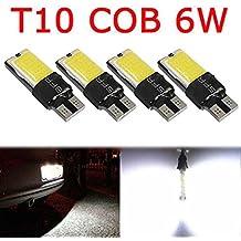 Vovotrade 4 Piezas T10 COB 6W W5W 194 168 LED Canbus Error Cuña lateral libre Coche Bombilla de Luz