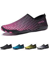 9334ff9f11 Madaleno Chaussures Aquatiques Homme Femme Chaussures d'eau Chaussures de Plage  Chaussures de Yoga Plongée Surf Piscine Sport…