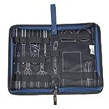 Babimax Sacoche a Outils Electricien Bricolage Tissu Epais Bleu M Rangements Outils Carré Léger Sac Porte Outils pour Réparation Travail