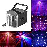 JUDYelc Bühnenlicht mit 30 Watt 9 LED MultiColor Lampen Wide Beams von IR Remote und DMX Control...