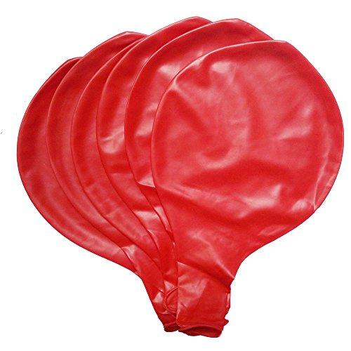 Baanuse Globos gigantes 36' en Rojo 6pcs
