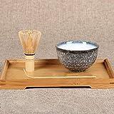 ACECITY Traditionelles Matcha-Starter-Set, Matcha-Schneebesen (Chasen), traditioneller Messlöffel (Chashaku), Teelöffel, das perfekte Set zur Zubereitung einer traditionellen Tasse Matcha 3 PCS
