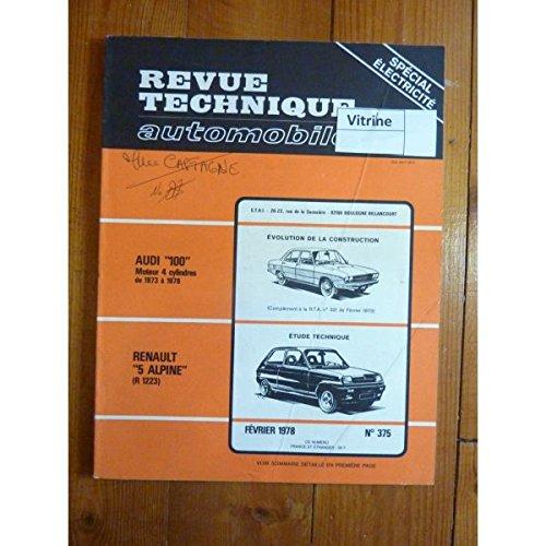 Rta-revue Techniques Automobiles - R5 Alpine Revue Technique Renault Etat - Bon Etat Occasion